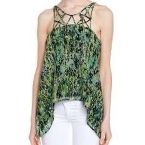 BCBG Bakar Silk sleeveless blouse S